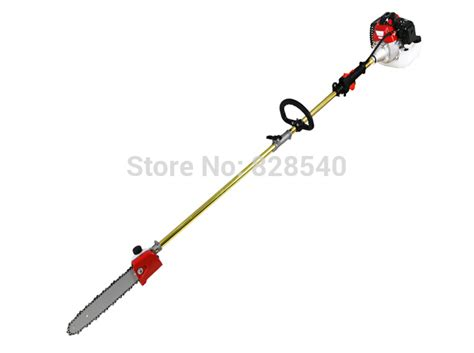 Promo Tree Pruner Gunting Dahan 2 In 1 Galah Gergaji Gunting new 52cc reach pole chainsaw petrol chain saw brush tree cutter pruner with 2x75cm extend