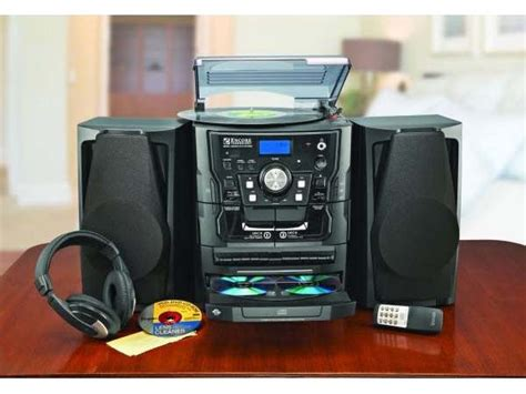 encore shelf stereo system with turntable 3 cd radio and