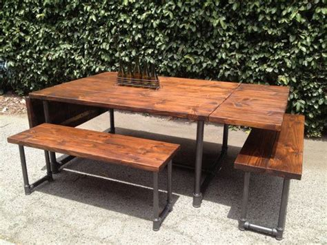 galvanized pipe bench 1000 images about evans patio table on pinterest