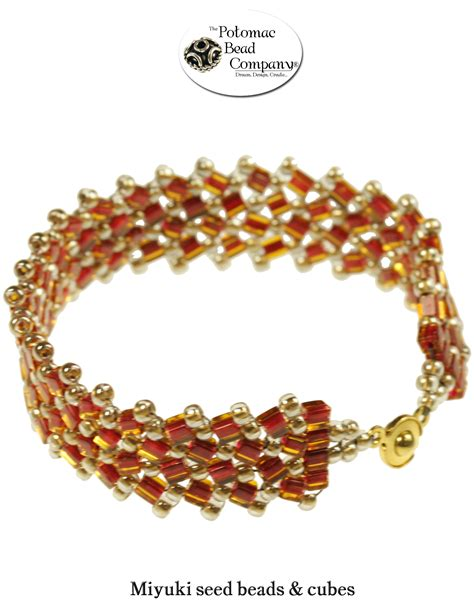 the potomac bead company flat herringbone bracelet from the potomac bead company