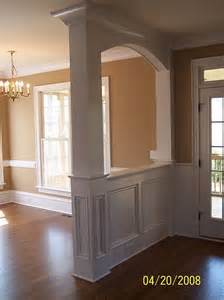 Half Wall Between Living Room And Foyer Craftsman Entryway And Search On