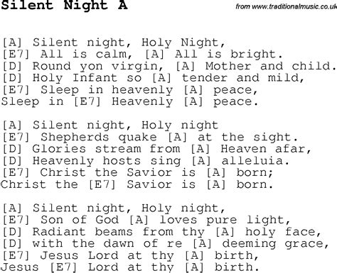 printable lyrics to silent night silent night lyrics new calendar template site