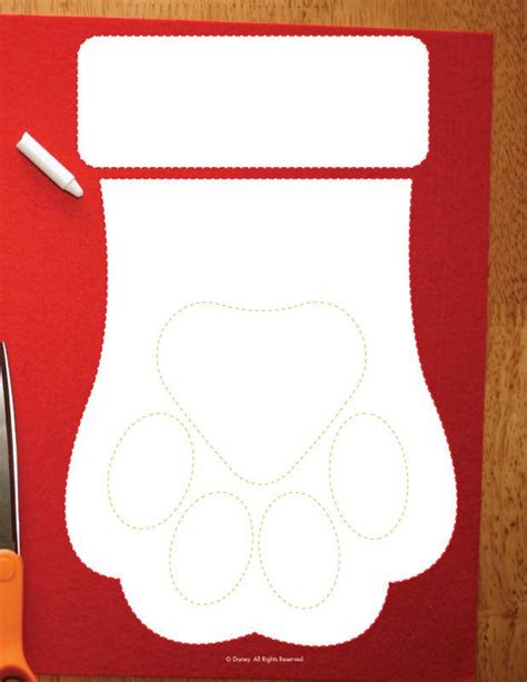 Pattern For Dog Christmas Stocking | dog paw stocking pattern christmas pinterest