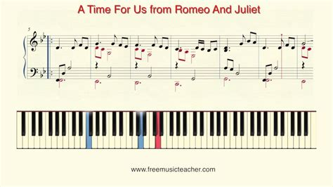 piano tutorial us and them how to play piano quot a time for us from romeo and juliet