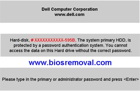 format hard drive password protected dell administrative password 1d3b 1f5a 3a5b