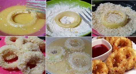 bahan membuat onion rings semudah ini rahasia membuat cheesy onion ring ala resto