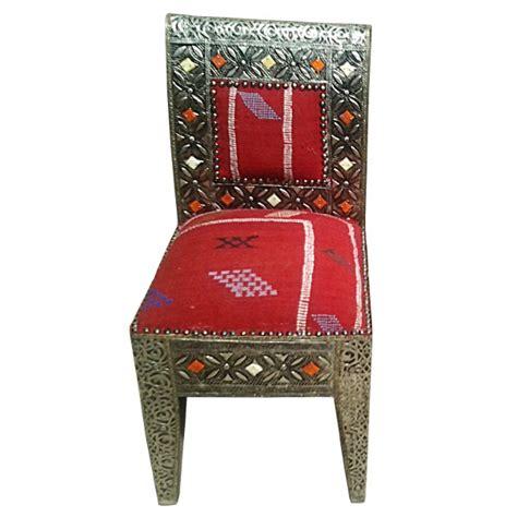 Chaise Marocaine by Chaise Marocaine En M 233 Tal Et Kilim Artisanat Marocain