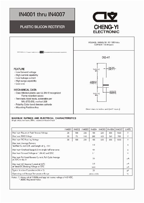 pdf diode in4004 in4004 4533003 pdf datasheet ic on line