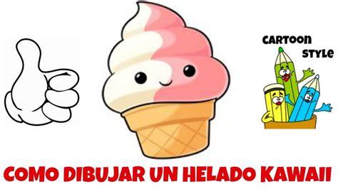 imagenes de helados kawaii para dibujar como dibujar un helado kawaii how to draw a kawaii ice