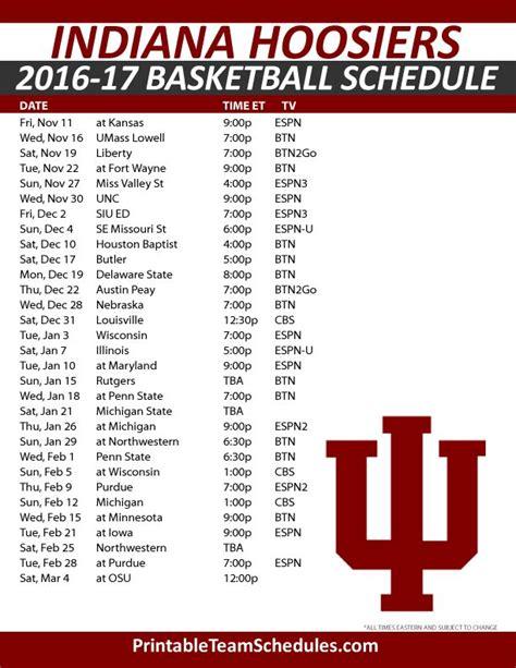 printable xavier basketball schedule indiana hoosiers men s basketball schedule 2016 best