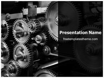 Powerpoint Templates For Machines Free Industrial Machine Gears Powerpoint Template Freetemplatestheme Com