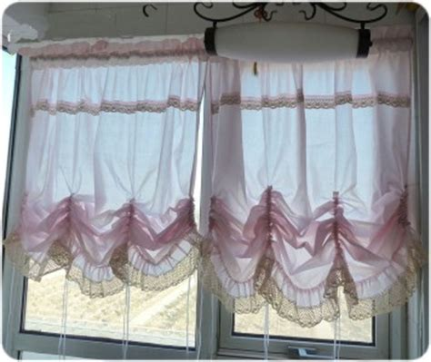 pull up drapes one pink pull up balloon curtain lace ruffle 140x180cm ebay