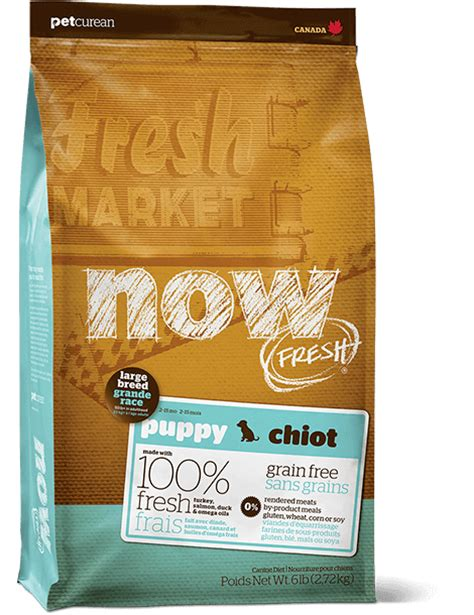 now fresh food now fresh grain free large breed puppy food petcurean