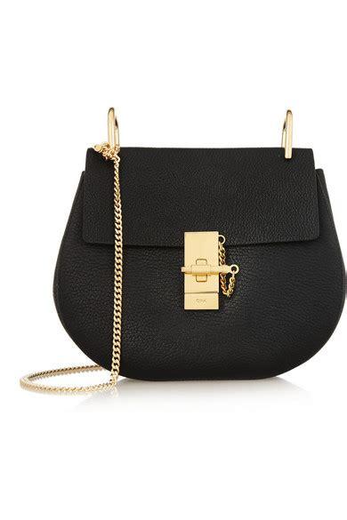 Tas Bahu Medium Mini Hitam Black Leather Fashion Import Korea Bags Pu chlo 233 drew medium textured leather shoulder bag net a