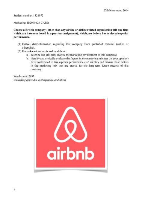 airbnb financial report airbnb marketing report