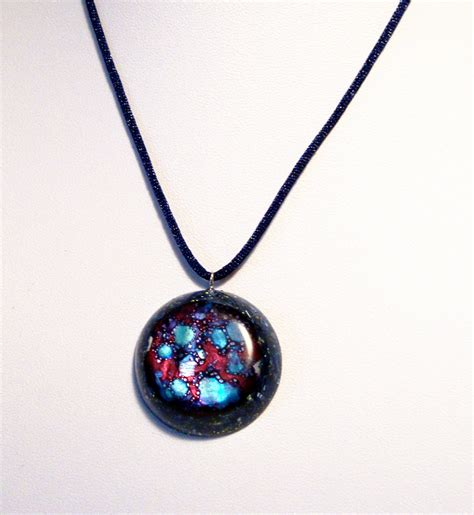 Lucky Pendant Orgonite orgone orgonite 174 pendant with cosmos universe galaxy