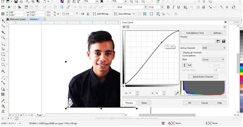 cara edit foto corel draw cara mengedit foto gang membuat vector degan cdr x8
