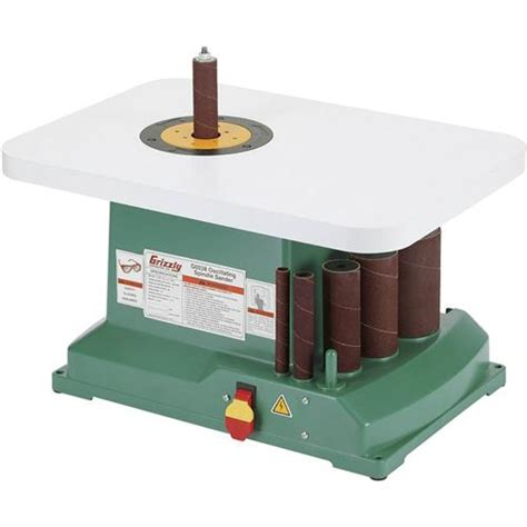 bench top drum sander g0538 grizzly 1 3 hp benchtop oscillating spindle sander