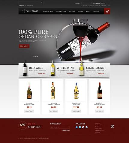 template 41127 wine store magento theme with intro