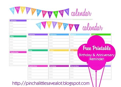 birthday reminder calendar template here