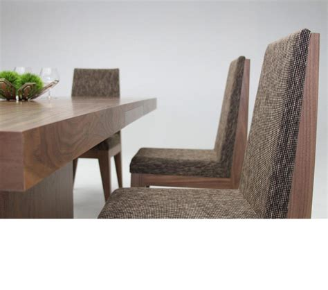 modern walnut furniture dreamfurniture zenith modern walnut extendable