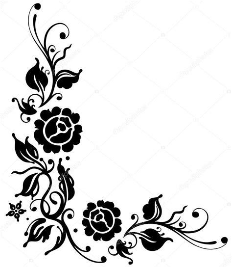 design bolder bunga rose leaves border flowers stock vector 169 christine