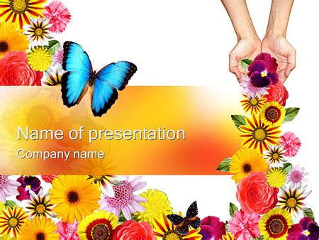 butterfly theme google slides beautiful flowers powerpoint template backgrounds id