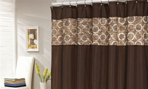 brown waffle shower curtain faux silk or waffle textured shower curtains