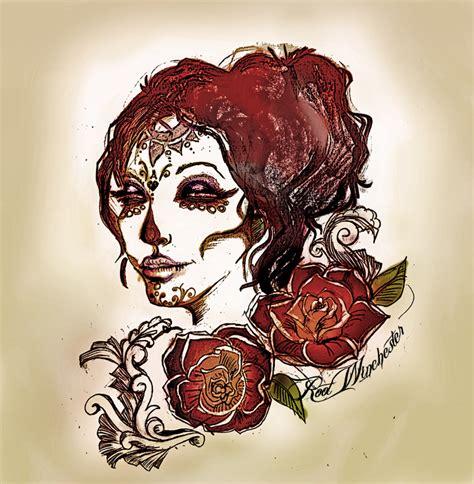 catrina tattoo design by sagnessagiel on deviantart