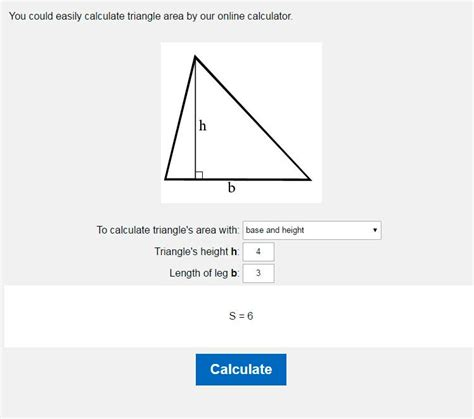 Through The Triangle by Area Of A Triangle Calculator