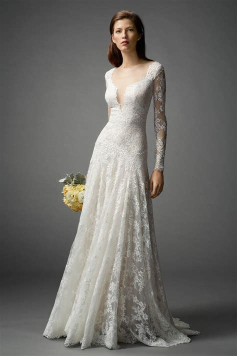 In Wedding Dress by Sleeved Wedding Dresses We Rustic Wedding Chic