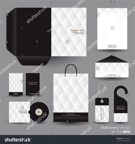 stationery layout vector stationery design set vector format stock vector 130543727