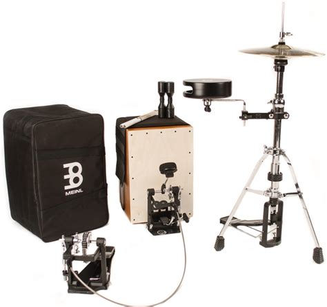 cajon with cymbals meinl percussion cajon drum set with cymbals and hardware