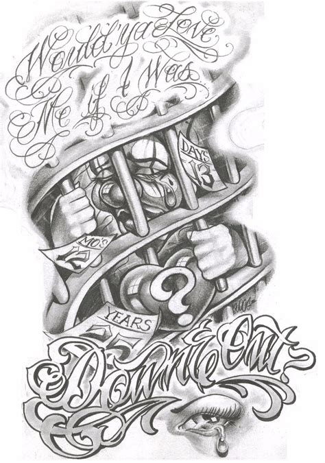 gangster tattoos gangster flash sheet page 3 1 boog free pictures to pin on page 2