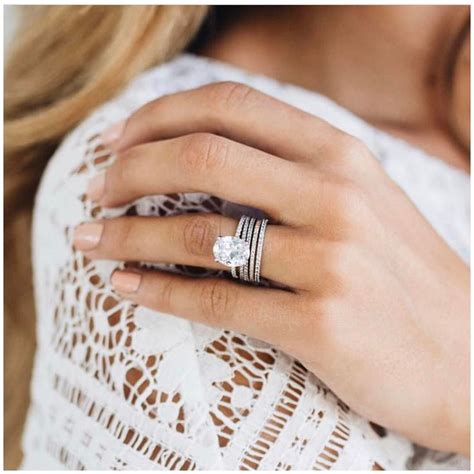 Wedding Ring Stack by Best 25 Stacked Wedding Rings Ideas On