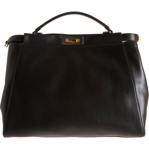 fendi medium peekaboo bag in black lyst