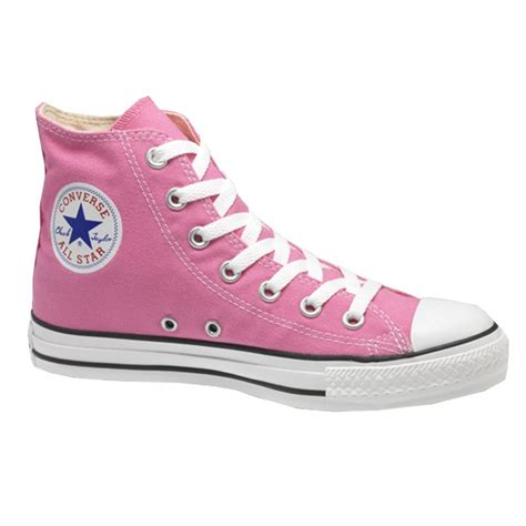 converse pink hi top chuck all trainers