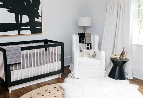 black and white crib exploring the elegance and minimalism of monochrome nurseries