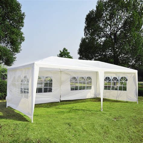 backyard tent party 10 quot x 20 quot party tent outdoor heavy duty gazebo wedding canopy w 4 side walls ebay