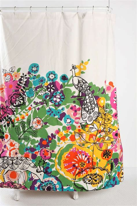 woodland garden shower curtain outfitters paisley