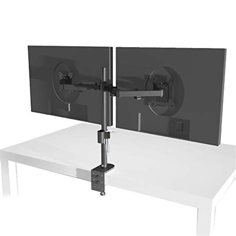 Wali Dual Lcd Monitor Desk Mount Stand Fully Adjustable Desk Mount Dual Monitor Stand