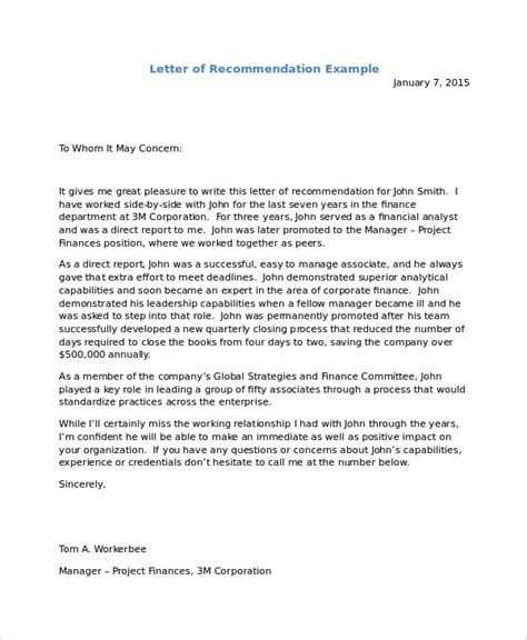 Sle Recommendation Letter For A letter to immigration letter of recommendation for