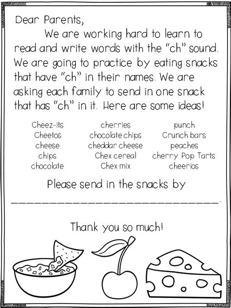 Parent Letter About Snacks 17 Best Images About Phonics And Phonemics On Activities Phonemic Awareness And