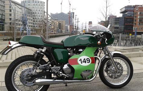 Q Bike Motorrad by Umgebautes Motorrad Triumph Thruxton Von Q Bike Technik