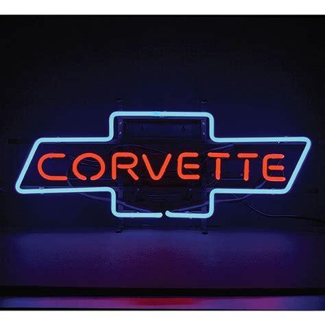 corvette bowtie neon sign tp tools equipment
