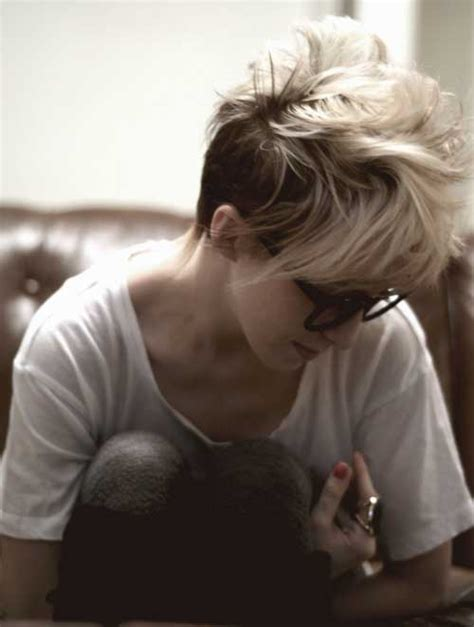 blonde pixie mohawks 15 best messy hairstyles for short hair short hairstyles