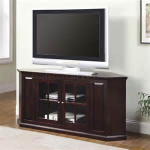 corner tv stands rich cherry finish modern corner tv stand w two glass doors