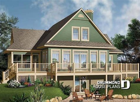 Lake Cottage Plans by House Plan W3914a Detail From Drummondhouseplans