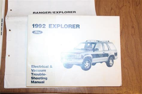 hayes car manuals 1992 ford explorer auto manual set 3 books 1992 ford ranger explorer aerostar service manual wiring electrical