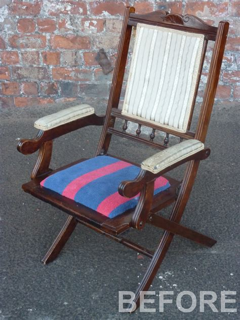 folding bedroom chair recycle your furniture refunk your junk edwardian